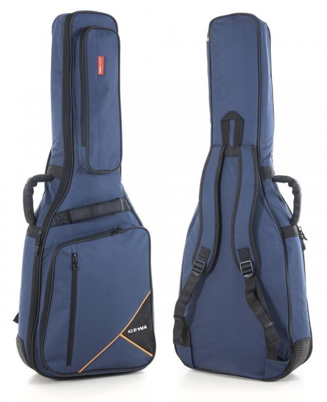 Premium-Tasche Westerngitarre blau