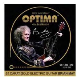 2028BM Goldsaiten E-Gitarre Brian-May Optima