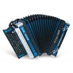 De-luxe-SE Steirische-Harmonika blau Strasser