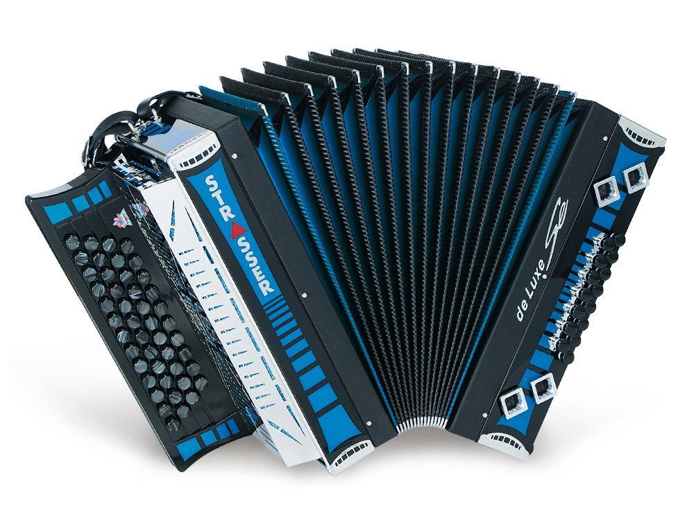 De-luxe-SE Steirische-Harmonika blau