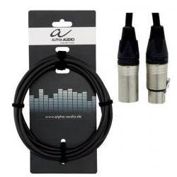 Mikrofonkabel XLR-XLR 3m Alpha Audio