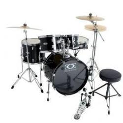 Fusion-1 Drumset-Bundle Jack-Black Gewa