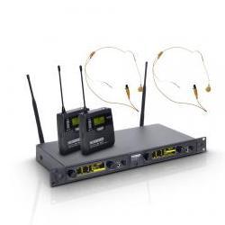 WIN42BPH2-Funksystem 2 hautfarbene Headsets LD Systems