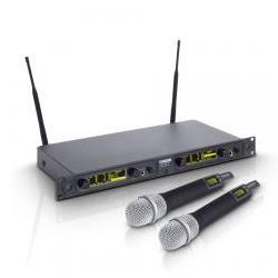 WIN42HHD2-Funksystem 2 Handmikrofone dynamisch LD Systems