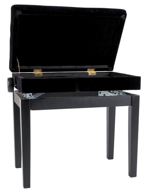 Pianobank DC Schwarz-matt