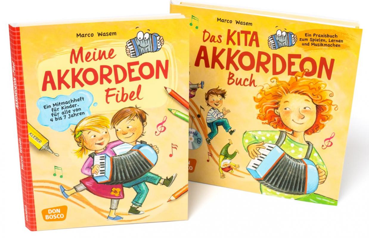 XS-Kinder-Akkordeon mit Lehrbüchern