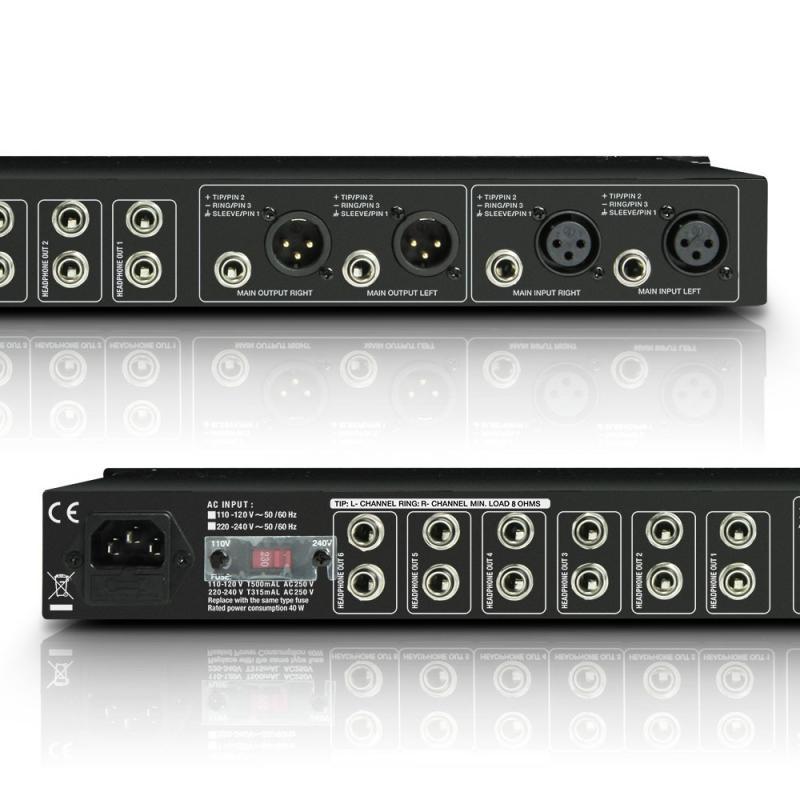 HPA6 19-Zoll Kopfhörerverstärker 6-Kanal
