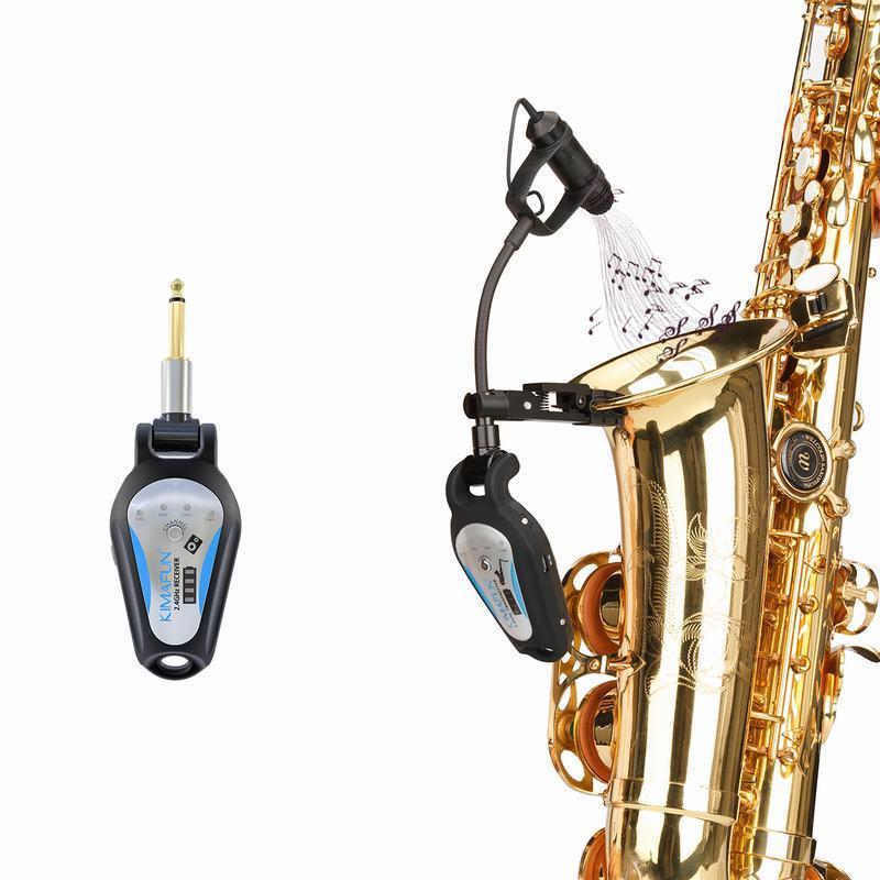 Funkmikrofon für Blasinstrumente