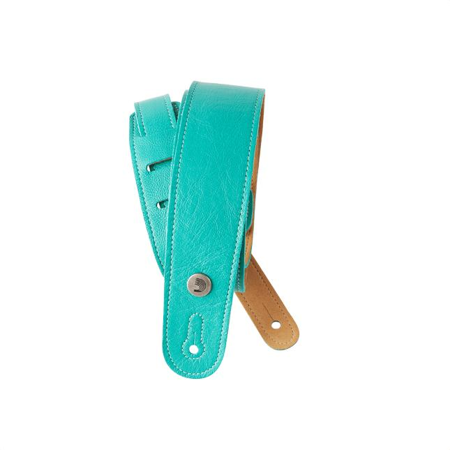 Gitarrengurt Leder Blaugrün