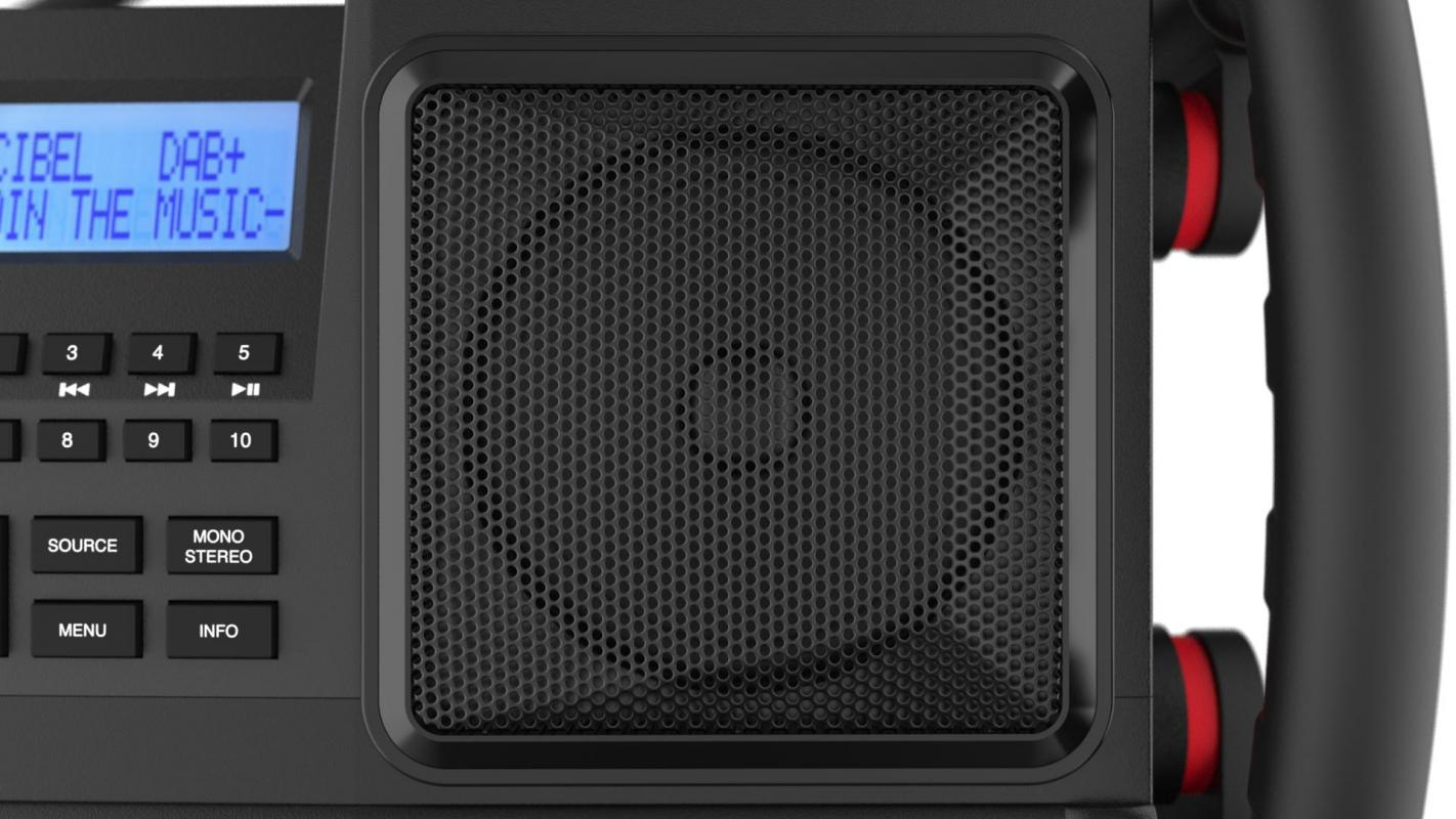 Workstation Vollblut-Baustellenradio