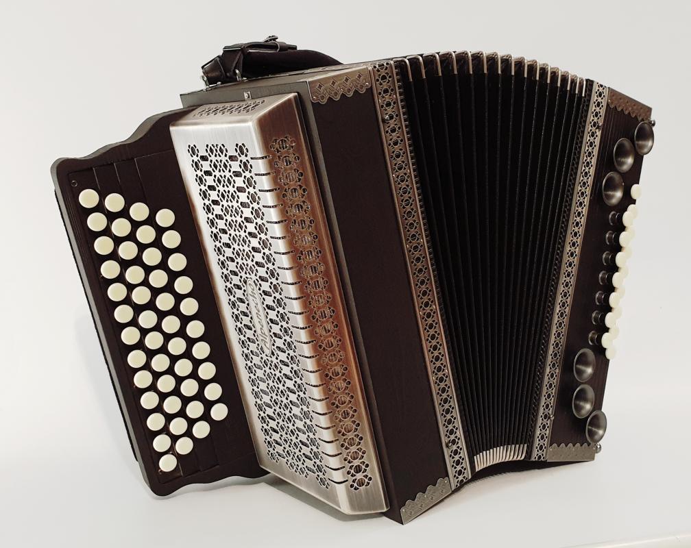 Harmonika Makassar-Ebenholz/Altsilber