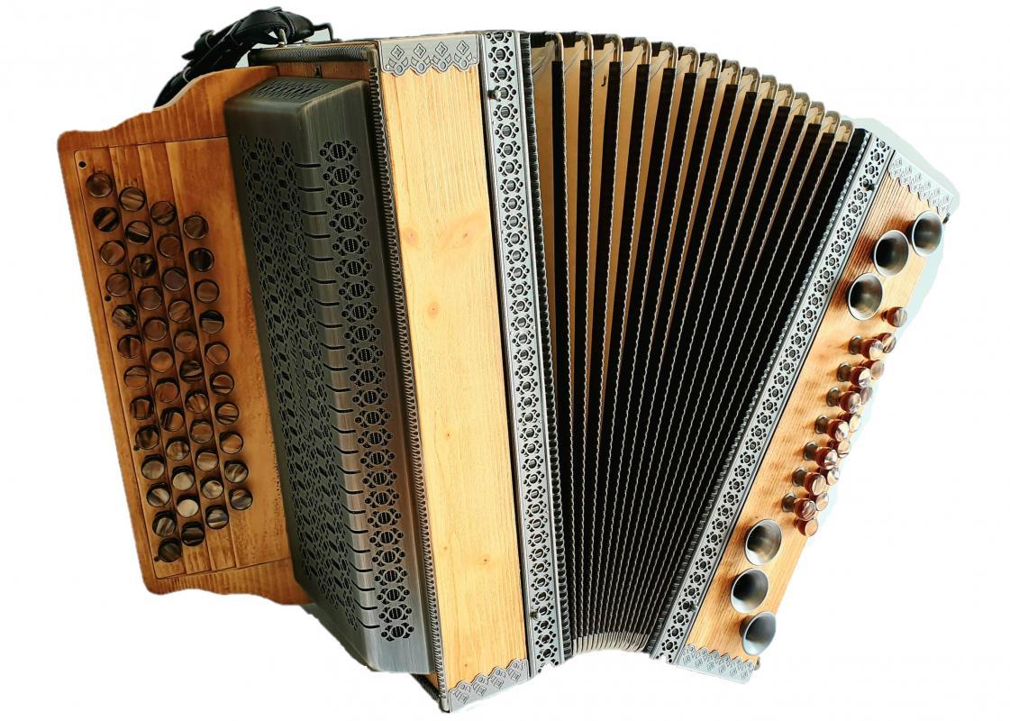 Profi-Harmonika Fichte Natur gebürstet