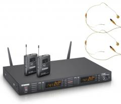 WS-1-G8-BPHH2 Funkmikrofon-Headsets hautfarben LD Systems