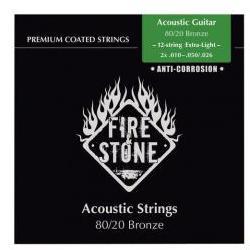 Saiten für 12-saitige Akusitk-Gitarren Extra Light FireAndStone