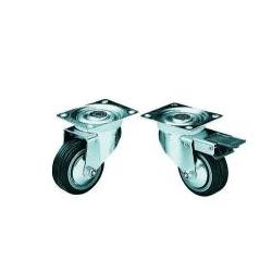 Lenkrolle 80mm mit Bremse schwarz Omnitronic