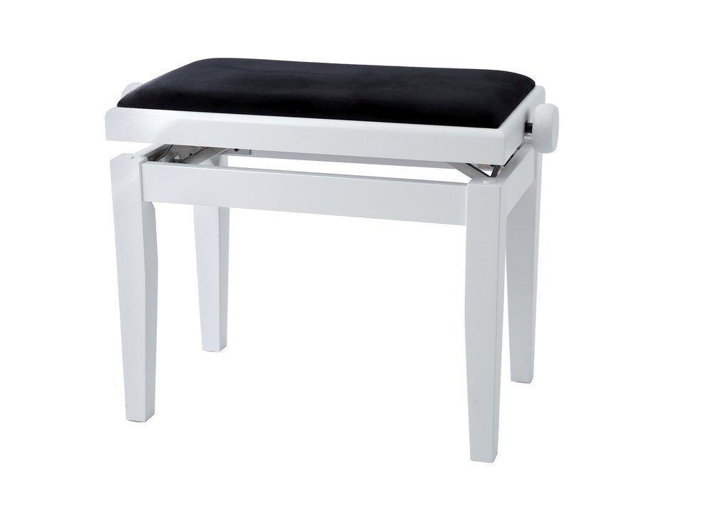 Pianobank weiss matt