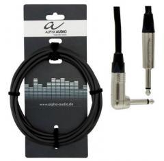 Gitarrenkabel Klinke-Winkelklinke 6m Alpha-Audio