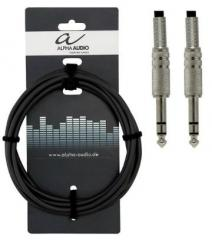 Instrumentenkabel Stereo 3m Alpha-Audio