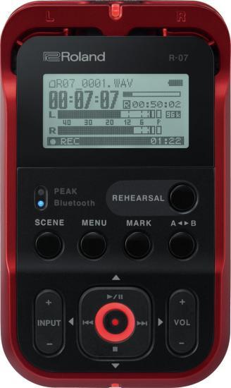 R-07 Audio-Recorder rot