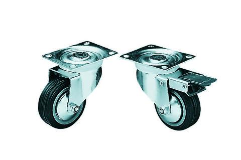Lenkrolle 80mm mit Bremse schwarz