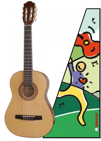 HC-02 1/2-Größe Kindergitarre
