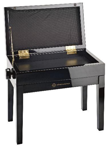 13951 Klavierbank schwarzpoliert