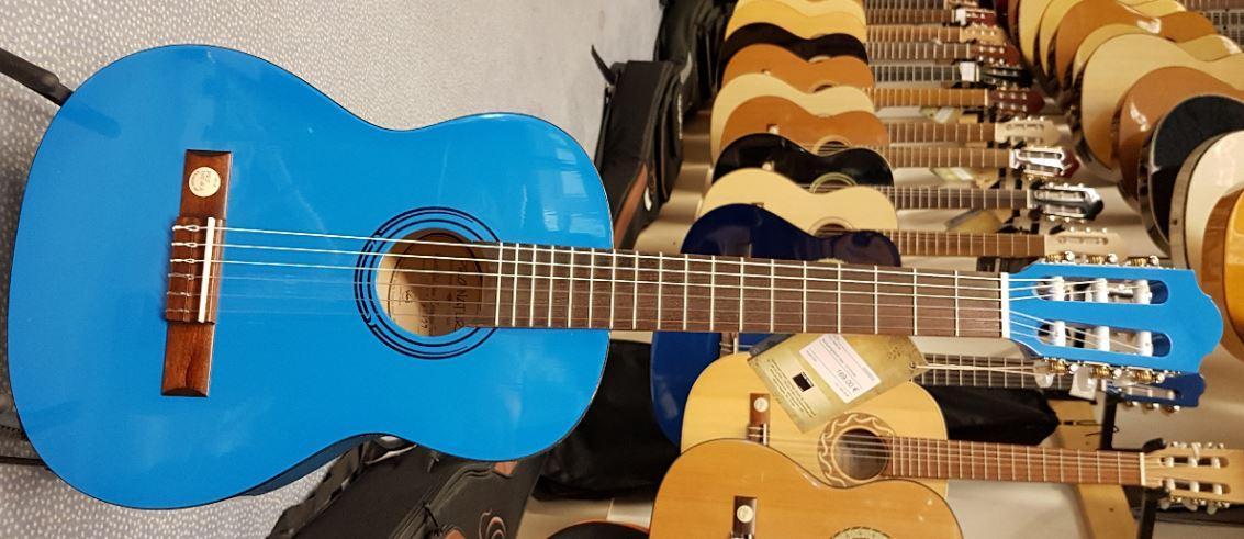 Konzertgitarre Blau 3/4-Größe