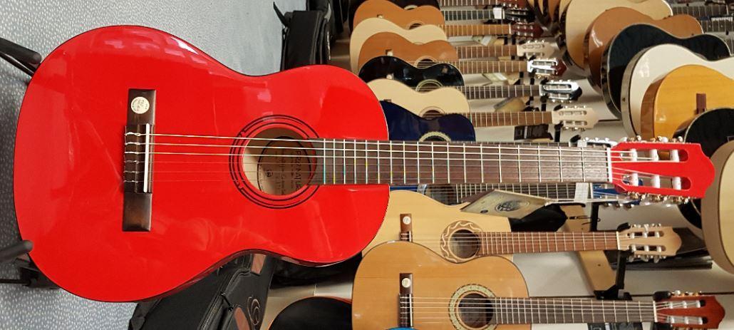 Konzertgitarre Rot 3/4-Größe