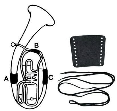 Leder-Handschutz Bariton Teil-C