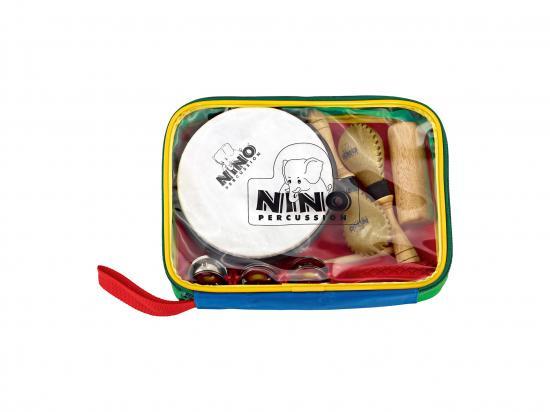 Percussion-Sortiment mit Harlekin-Tasche