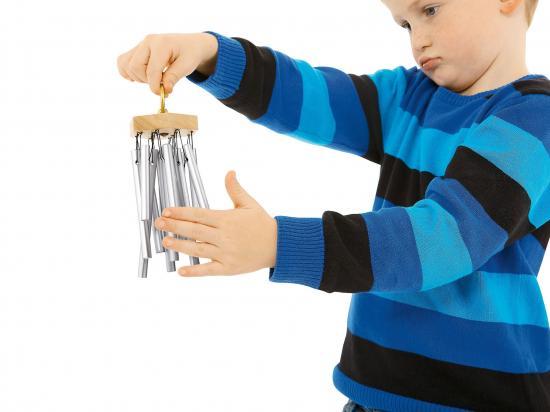 Mini Hand Chimes Nino Eloxiert Aluminum Silber