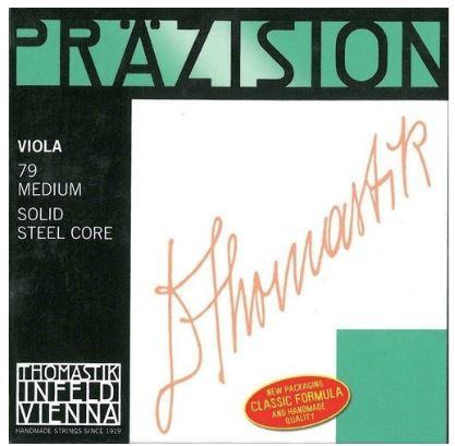 Saiten für Viola Präzision Stahl Vollkern Mittel