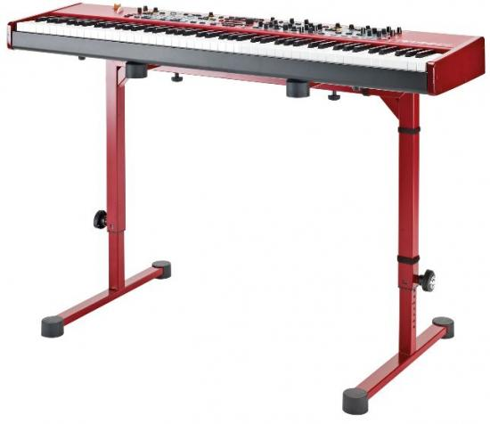 18810 Keyboard-Tisch Rubinrot Omega