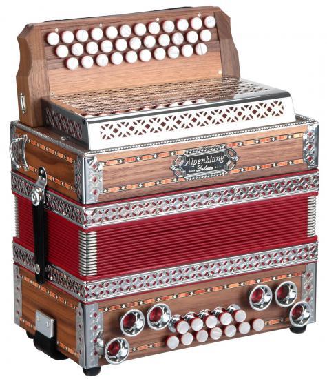 Harmonika Deluxe G-C-F Nuss