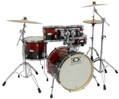 Fusion-5 Drumset Crimson-Red-Fade