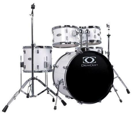 DC3-Progressive Drumset Snow-White