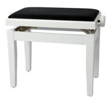 Pianobank Weiss hochglanz