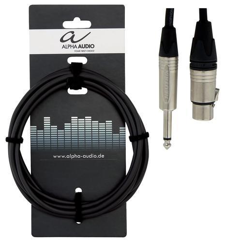 Mikrofonkabel XLR-Klinke 3m