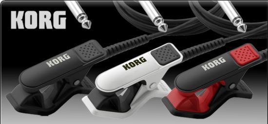 CM-200 Kontaktmikrofon für Stimmgeräte, schwarz-rot