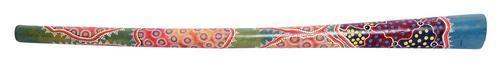 Didgeridoo Teakholz bemalt