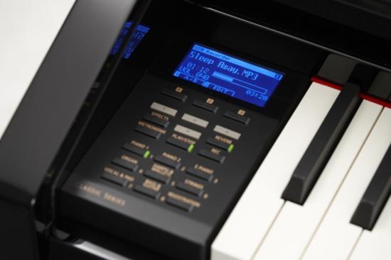 CS-8 Klavier Schwarz-Hochglanz