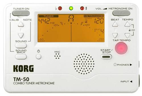 TM-50 Stimmgerät/Metronom Pearl-White