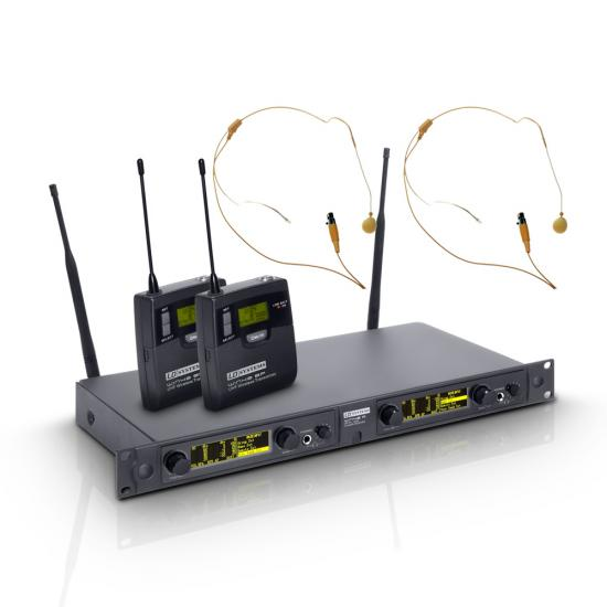 WIN42BPH2-Funksystem 2 hautfarbene Headsets