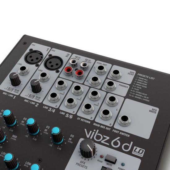 VIBZ-6D Mischpult mit DFX