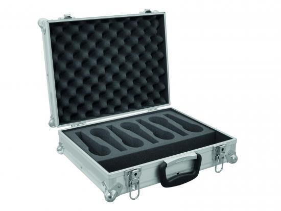 Mikrofon-Case Road 7 Mikrofone silber