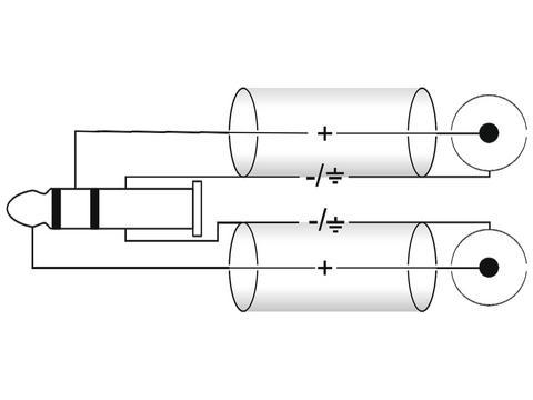 Adapterkabel Stereo-Klinke 2xCinch