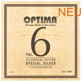 NO6SNMT Silbersaiten Konzertgitarre