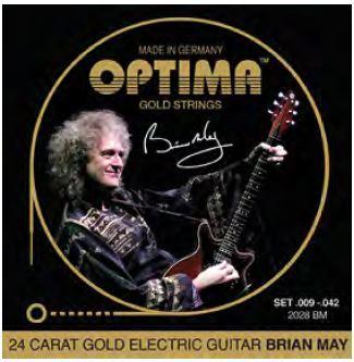2028BM Goldsaiten E-Gitarre Brian-May