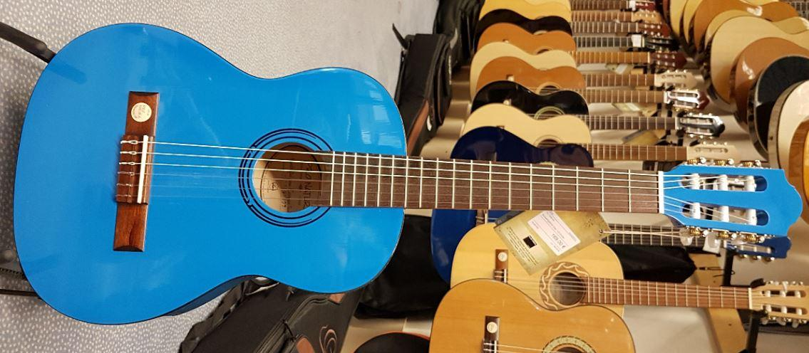 Konzertgitarre blau 1/2-Größe