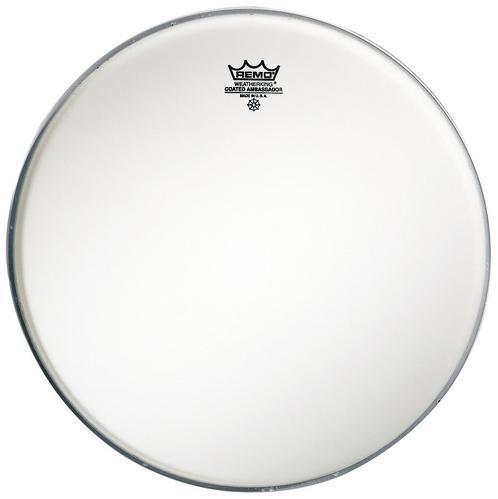 Schlagzeugfell Ambassador Weiß aufgeraut 14 Zoll